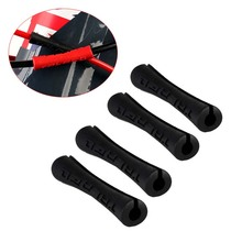 4Pcs Bicycle Sleeve Rubber Cable Protector Red Black Ultralight Pipe Line Brake Shift MTB Bike Frame Guides Protect BC0176