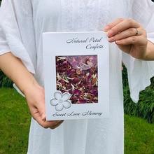 1 Litre natural wedding confetti FEESTIGO biodegradable dried rose flower petals and birthday party decoration