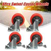 4pcs Heavy Duty Giratória Rodas Rodas Rodízios de Cadeira de Escritório Móveis Rodízios De Reposição Kits para As Rodas Do Carrinho