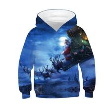 Sweatshirt Outerwear Hooded-Coats 3d-Print Christmas-Boys Kids New for Santa-Claus 4-12-Years