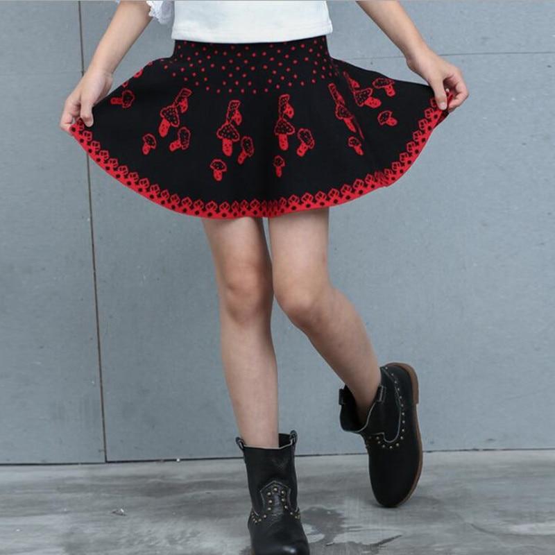 Baby Girl Skirt Clothes Spring Summer Autumn Girls Princess Jacquard Knitted Umbrella Skirts Children's Short Skirt For 3-14Y