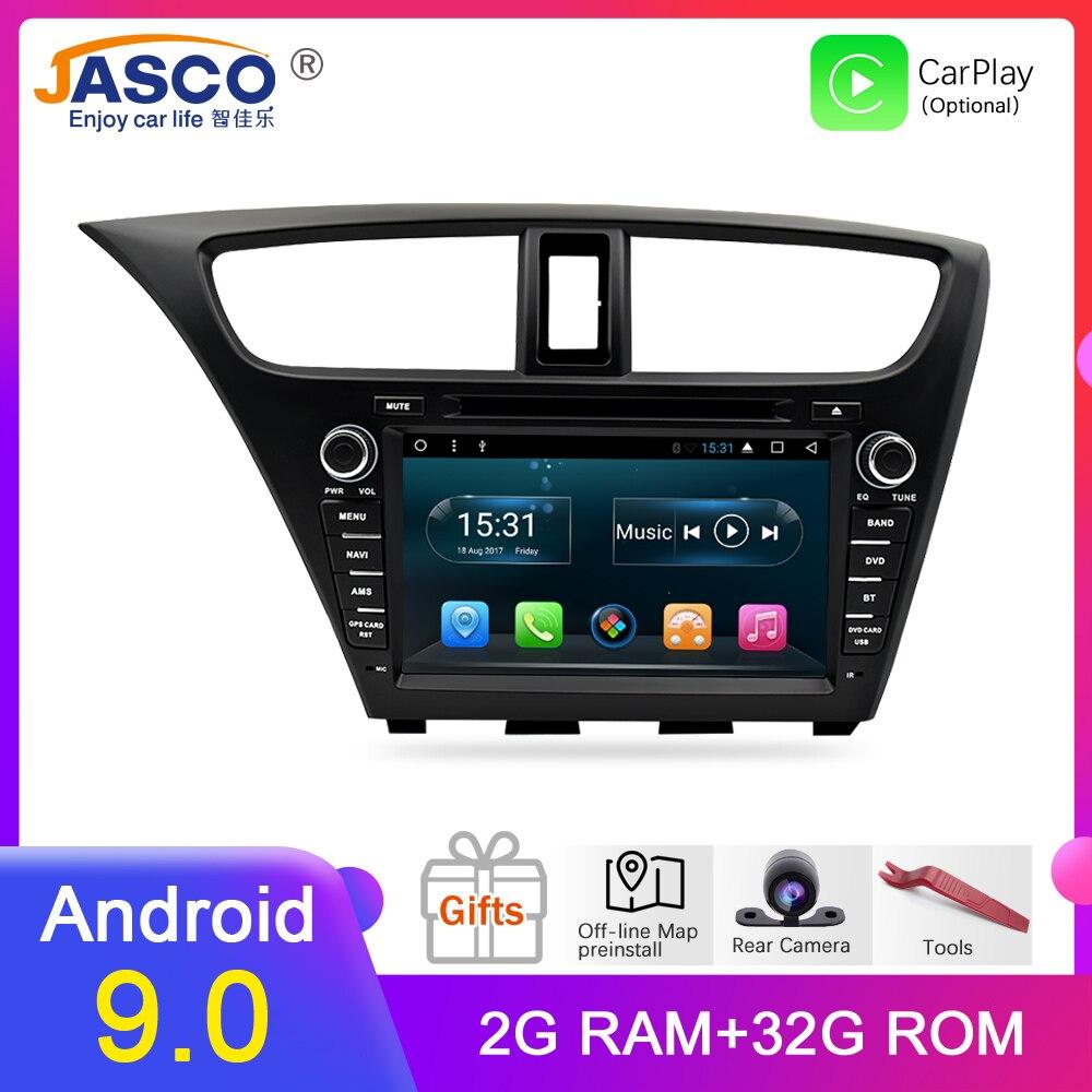 Android 9.0 Estéreo Do Carro DVD Para Honda Civic Hatchback 2013 + Auto Rádio RDS GPS Glonass de Navegação Multimídia De Áudio e Vídeo bluetooth