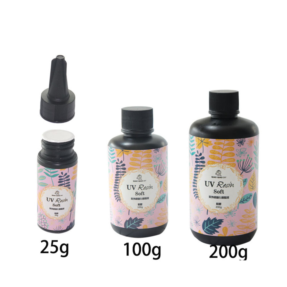 25/60/100/200g Ultraviolet Curing Solar Cure Sunlight Activated DIY UV Resin Soft Glue Alibaba Express