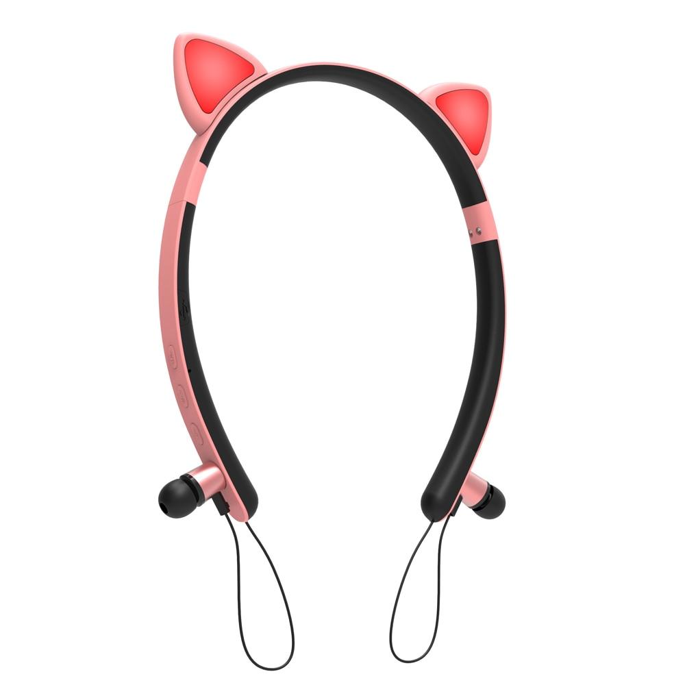 Cute Bluetooth Wireless Cat Ear Headphones Girls Headset Headwear Earphone With Mic For Pc Laptop Computer Phone For Girls Kids Bluetooth Earphones Headphones Aliexpress
