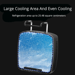 Image 3 - Mobile Phone Cooler Cooling Fan For IOS Iphone Android Huawei Sumsung Smartphone PUBG Game Holder Cooling Pad