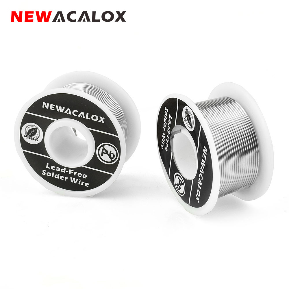 NEWACALOX 2PCS/Set 1mm New Welding Iron Wire Reel 100g/3.5oz Tin Lead Line FLUX 2.0% Silver Solder Wire 55*29mm for Soldering(China)