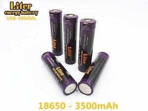 Image 5 - Batería para ordenador portátil, 4 piezas de batería de energía USB 5000ML Li ion recargable de la batería USB 18650 de 3500mAh 3,7 V Li ion batería + cable USB