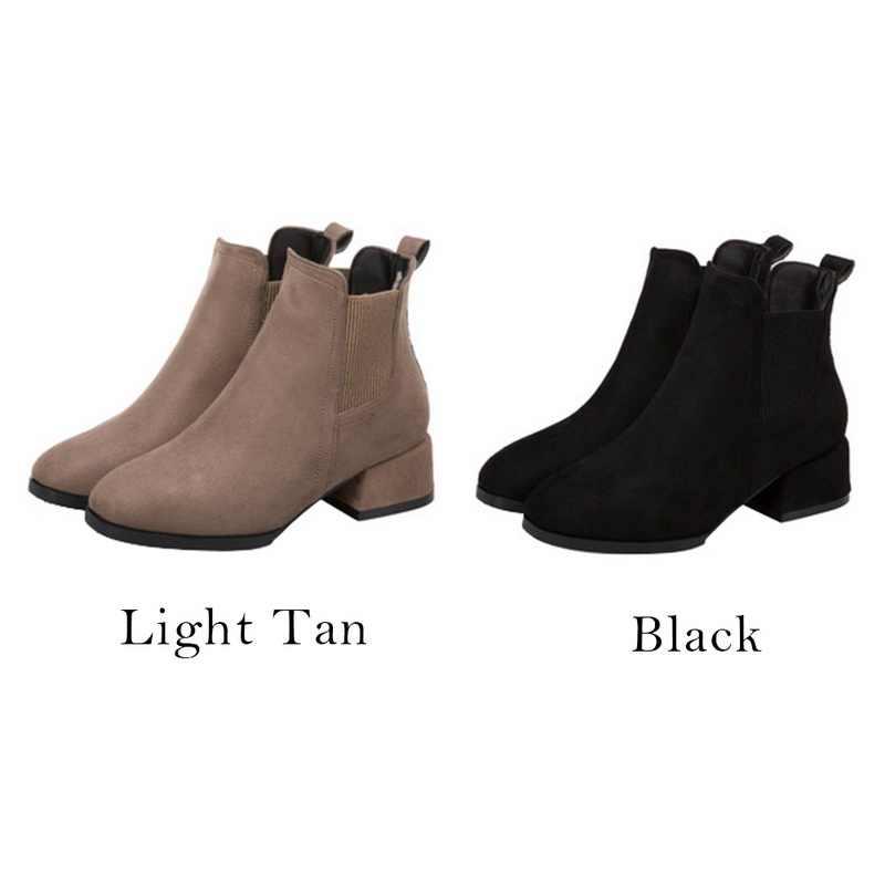 """Thời Trang 2019 Phụ Nữ Boot Cổ Chân Giày Nữ Giày Nữ Giày Nữ Giày Boot Nữ Đen Botas Mujer """"Bota Feminina 2020"""