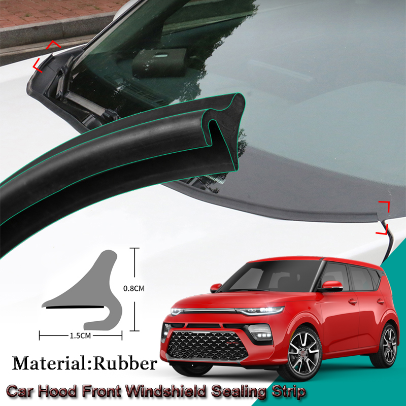 DIY Car Seal Strip Windshied Spoiler Filler Protect Edge Weatherstrip Strips Sticker Auto Accessories For Kia Soul 2012-2020