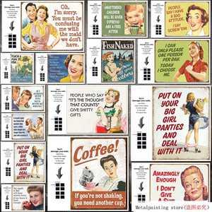 Жестяная Табличка с юмористическим сарказмом, забавные винтажные жестяные таблички для общежития, наденьте трусы для вашей большой девочк...