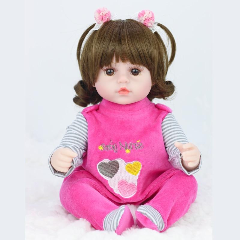 42cm baby bebe puppe reborn Simulation Baby Puppen Weich Silikon Reborn Kleinkind Baby Spielzeug Für Mädchen Kind Geburtstag Weihnachten geschenke