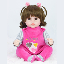 Baby Toys Dolls 42cm Reborn Christmas-Gifts Girls Soft-Silicone for Child Birthday