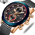 LIGE 2019 relojes de moda para hombre, relojes de pulsera de lujo a prueba de agua para negocios, reloj de cuarzo para hombre, cronógrafo deportivo, reloj para hombre