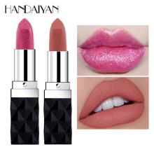 Korean Brand Lips Makeup Matte Lipstick Waterproof Lip Tint Metal Pigment Long Lasting Lipstick Tattoo Shimmer Glitter Lip Stick