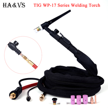 WP17 WP17FV WP17F torche de soudage TIG gaz-électrique intégré caoutchouc Super doux tuyau rouge 4M 35-50 Euro connecteur 13FT refroidi par Air