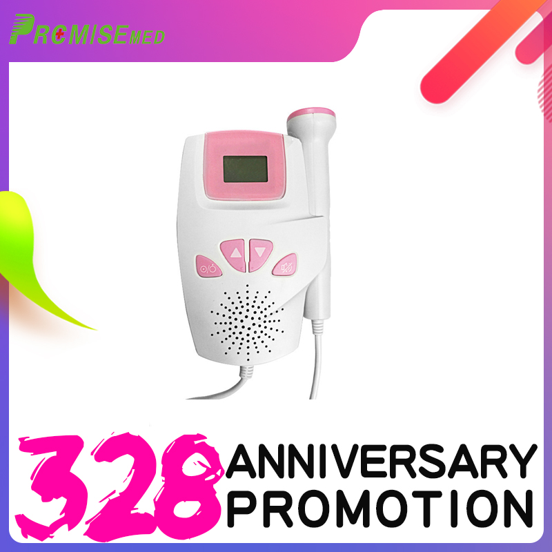 PRCMISED Fetal Doppler With Ear Thermometer, Premium Professional 2.5MHZ Detector, Portable Angel Sounds Heartbeat Monitor