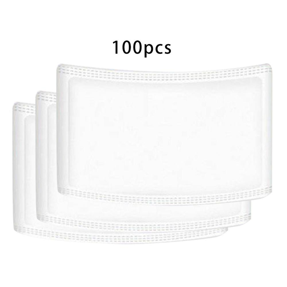 100 Pieces Disposable Masks Gasket Safety Anti Dust Breathable Mouth Face Mask Replacement Pad Health 3 Layer Masket