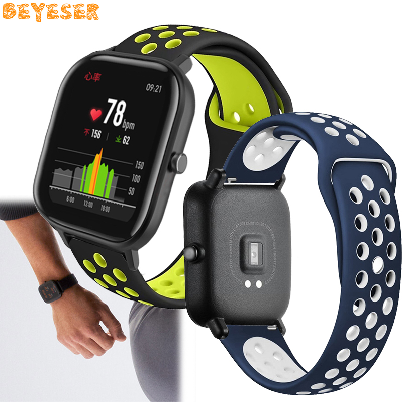 Sport silicone bands For Samsung Galaxy watch 42mm Gear s2 watch strap 20mm for Xiaomi Huami Amazfit GTS Bip BIT PACE wrist band