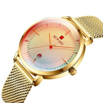 Męskie zegarki męskie zegarki kwarcowe fajne kolorowe szkło zmieniające kolor z kalendarzem wodoodporny zegarek męski odzież akcesoria czas tanie i dobre opinie Tephea 24cm Moda casual QUARTZ 3Bar Hook buckle Stop 11mm Hardlex Nie pakiet 42mm RD62015M 20mm ROUND Odporny na wstrząsy