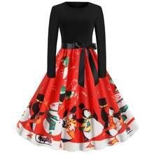 Нарядные платья рождественские вечерние ретро модные Стиль с