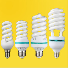 Tubo en espiral de alta potencia, lámpara de ahorro energético fluorescente, AC170-240V, E27, E14, B22, 65W, 85W, 125w, venta al por mayor
