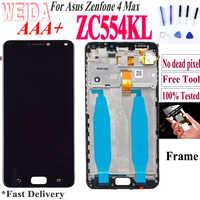 Original 5,5 ''Für Asus Zenfone 4 Max ZC554KL LCD Touch Screen Digitizer Ersatz Teile Für ZenFone 4 Max LCD ZC554KL X001D