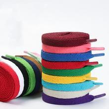 Lacets plats classiques pour chaussures, 1 paire, lacets de sport solides, unisexe, ficelles, accessoires de chaussures