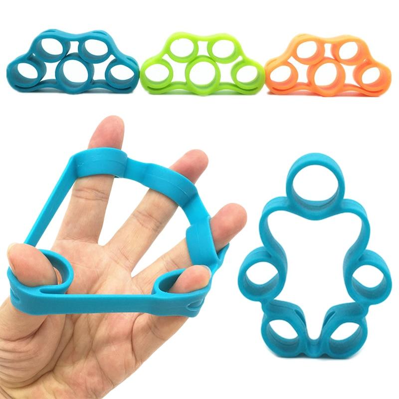 1 Pcs Finger Gripper Strength Trainer Resistance Band Hand Grip Wrist Stretcher Finger Expander Exercise Finger Resistance Bands