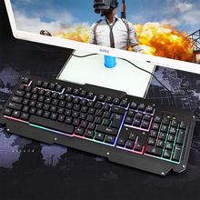 цена на USB Wired Backlit Gaming Keyboard Mechanical Keyboard for Computer PC Laptop Game Player Equipment Accessories