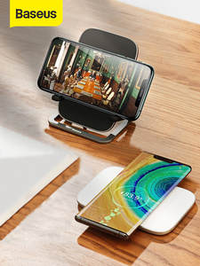 Baseus Phone-Stand Charging-Pad Wireless-Charger-Stand Multifunctional Fast-Charge Samsung