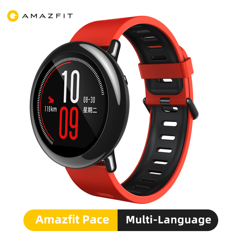 Original Amazfit Pace Smart Watch With GPS Bluetooth Fashion Outdoor Sport Fitness Tracker Smartwatch For Xiaomi Phone Redmi IOS