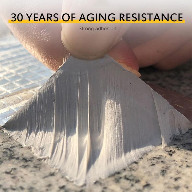 Fita impermeável super forte da folha de alumínio da borracha do selo butílico da fita dos rolos dos pces reino unido