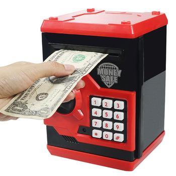 Alcancía con contraseña de 4 dígitos, alcancía electrónica con contraseña para niños, alcancía electrónica con Mini caja de monedas de dinero, juguete para regalo para niños