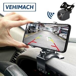 Câmera de estacionamento do carro wifi monitor reverso 1080p 170 ° impermeável sem fio 12v-24v backup retrovisor para o automóvel back up lente de visão traseira