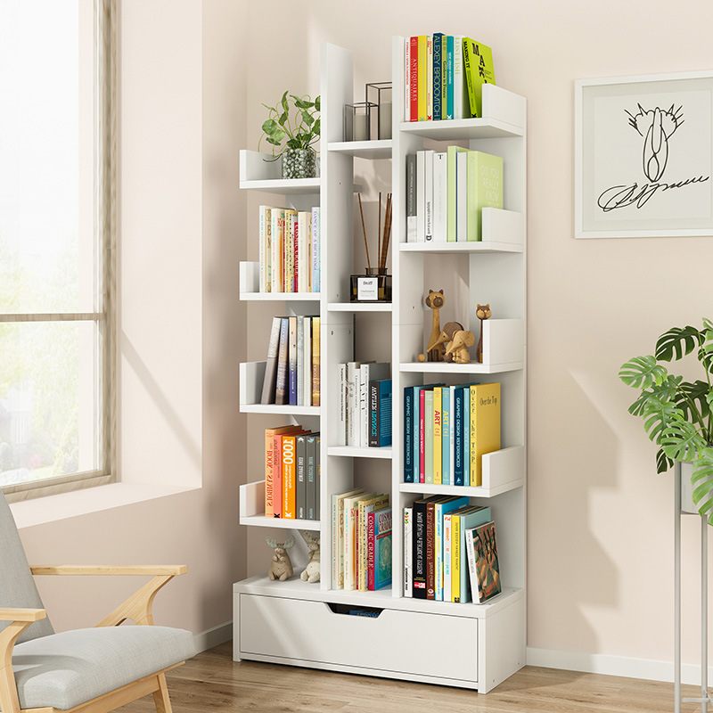 Creative Bookshelf Bookcase Simple Living Room Storage Shelf Table Student Household Floor Economical Simplicity Small Bookshelf