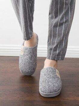 Classic Women Winter Warm Fur Slippers Men Women Boys Girls Slippers House Shoes Flat Heel Home Indoor Bedroom Zapatilla Mujer 3