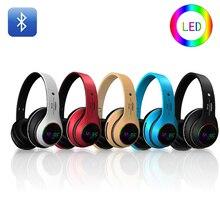LED Colorful Wireless Bluetooth Headphones Headset Foldable