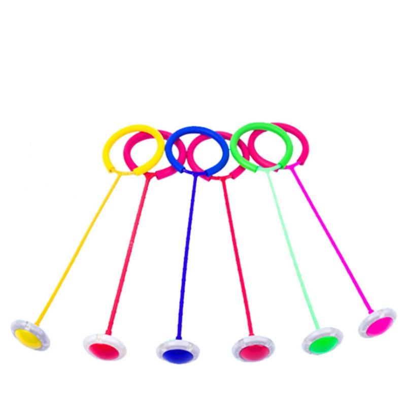 Glowing Bouncing Balls One Foot Flashing Skip Ball Jump Ropes Sports Swing Ball Children Fitness Playing Fun Entertainment Toys(China)