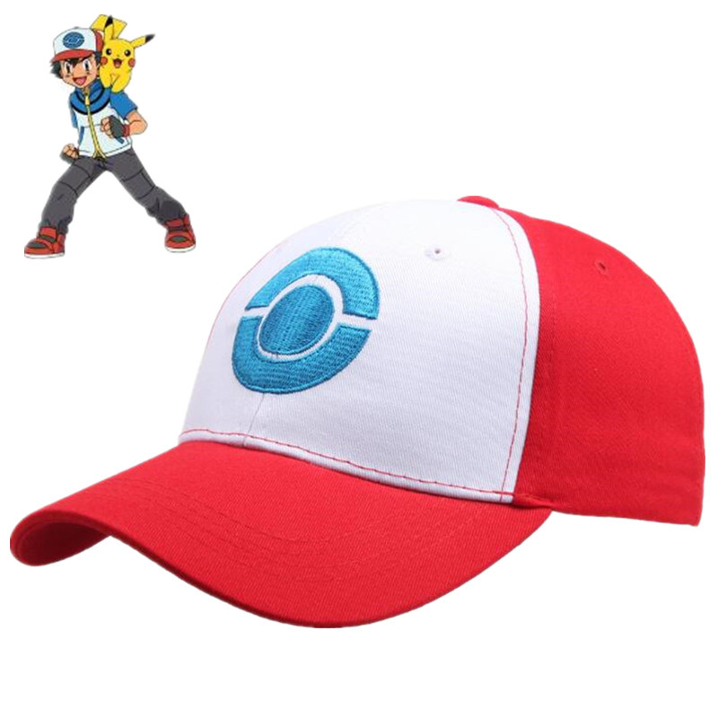 hot-new-japan-anime-font-b-pokemon-b-font-hat-cosplay-costumes-accessories-ash-ketchum-baseball-cap-sunhat-fancy-comicon-gift