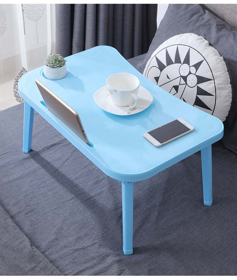 Breakfast Serving Bed Trays Adjustable Foldable with Flip Top and Legs Computer Desk Stand <font><b>Folding</b></font> Laptop <font><b>Table</b></font> <font><b>Notebook</b></font> Desk image