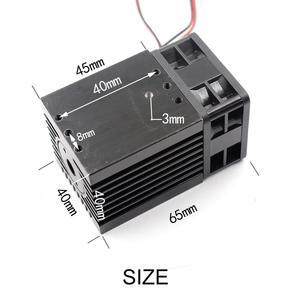 Image 2 - جهاز ليزر ليزر عالي الطاقة 1 وات 1000 ميجاوات 520nm وحدة ليزر خضراء جهاز ليزر طارد للحشرات مزود بمروحة تبريد دورة عمل طويلة