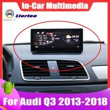 Araba IPS yüksek çözünürlüklü LCD ekran için Audi Q3 2013 ~ 2018 Android otomatik multimedya GPS navigasyon radyo Stereo Carplay oynatıcı sistemi
