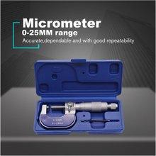Ручной прецизионный наружный микрометр 0-25 мм/0,01 мм верньерный Калибр штангенциркуль Твердосплавный Наконечник измерительные инструменты