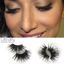 LASHAP mink  False Eyelashes 1 Pair 25mm Mink Hair Wispy Cross lashes diamond box High quality