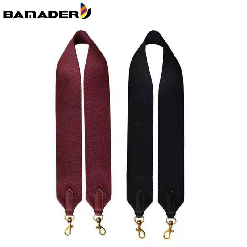 BAMADER Canvas Ladies Wide Bag Strap Fashion Bag Accessories & Part Solid Color Women Shoulder Strap Replacement Handle Bag Part