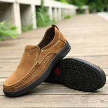 Men Warm Flats Outdoor Casual Loafers shoes Soft Moccasins Autumn Winter Genuine Leather Shoes Slip On Driving *61130