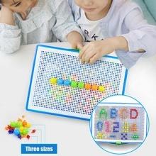 Мозаика Pegboard детская развивающая игрушка 296 шт гриб пазл для ногтей обучение по головоломкам игрушки LKS99