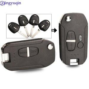 Jingyuqin 2/3 botões modificado caso chave escudo capa para mitsubishi lancer evo colt outlander mirage keyless (lâmina direita)