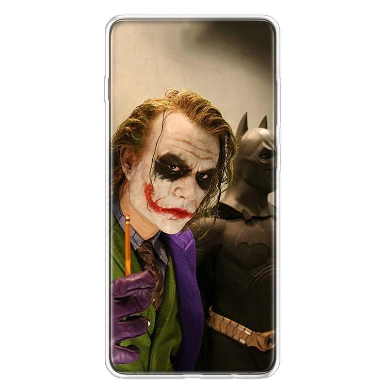 Batman Joker Dark Knight Phone Case For Samsung Galaxy S20 Ultra Plus S6 S7 S8 S9 S10 NOTE8 NOTE9 NOTE10 J4 J6 J8 Plus Edge Lite