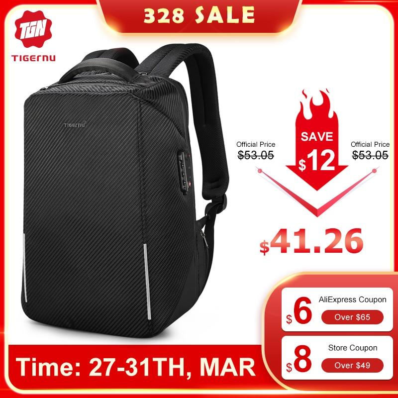 Tigernu New Arrival TSA Lock No Key Business Laptop Backpacks Hign Quality 15.6 Inch Anti Theft Men Travel Bags Male Mochilas